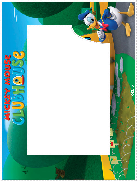 4 Images of Mickey Mouse Printable Frames