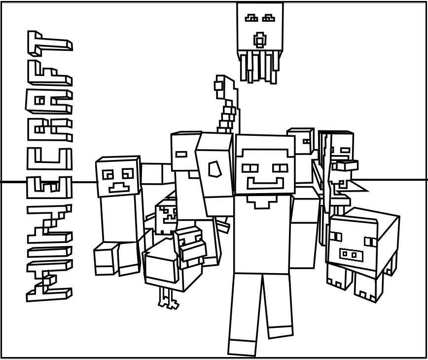 9 Images of Printable Minecraft Coloring Pages