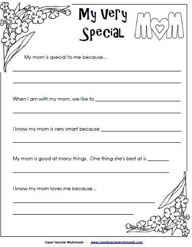 6 Images of Printables Mother's Day Activities