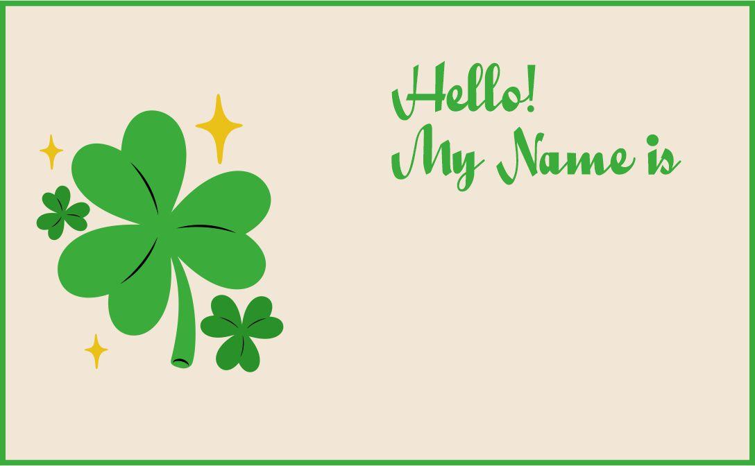 Name Tags St. Patricks