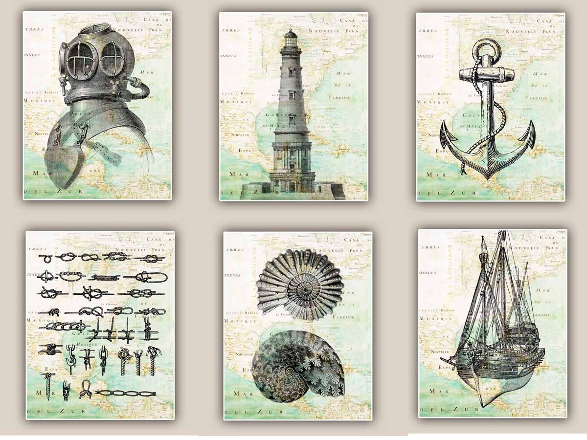 5 Images of Free Printable Vintage Nautical