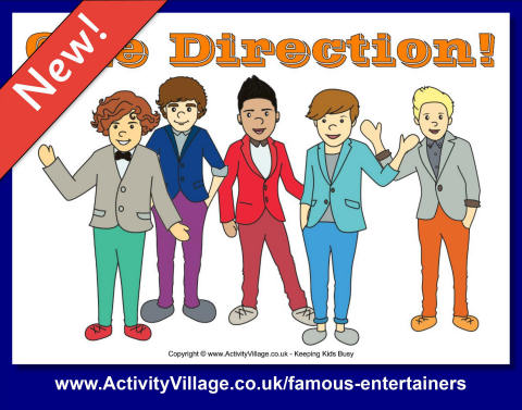 One Direction Printable Bookmarks