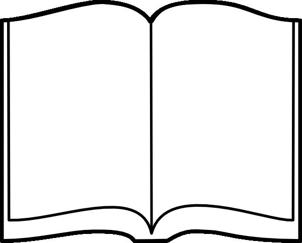 Open Book Outline Clip Art