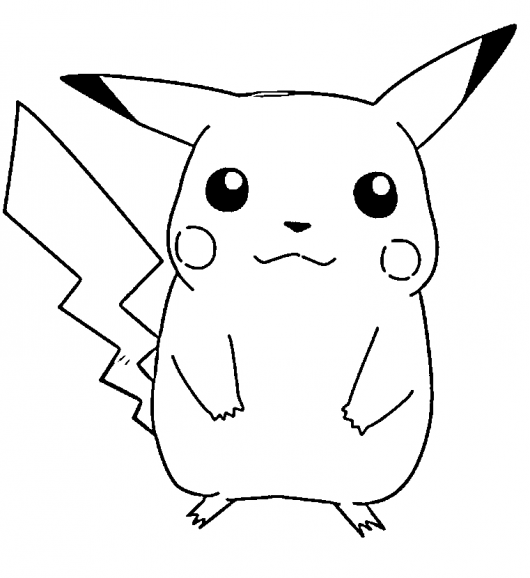 5 Images of Pikachu Coloring Pages Printable