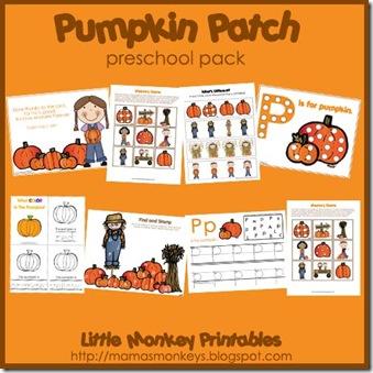 4 Images of Free Preschool Pumpkin Printables