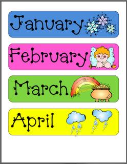Printable Classroom Calendar Months
