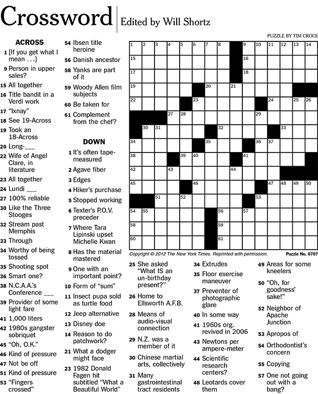 6 Images of Printable Crossword Puzzles With Solution