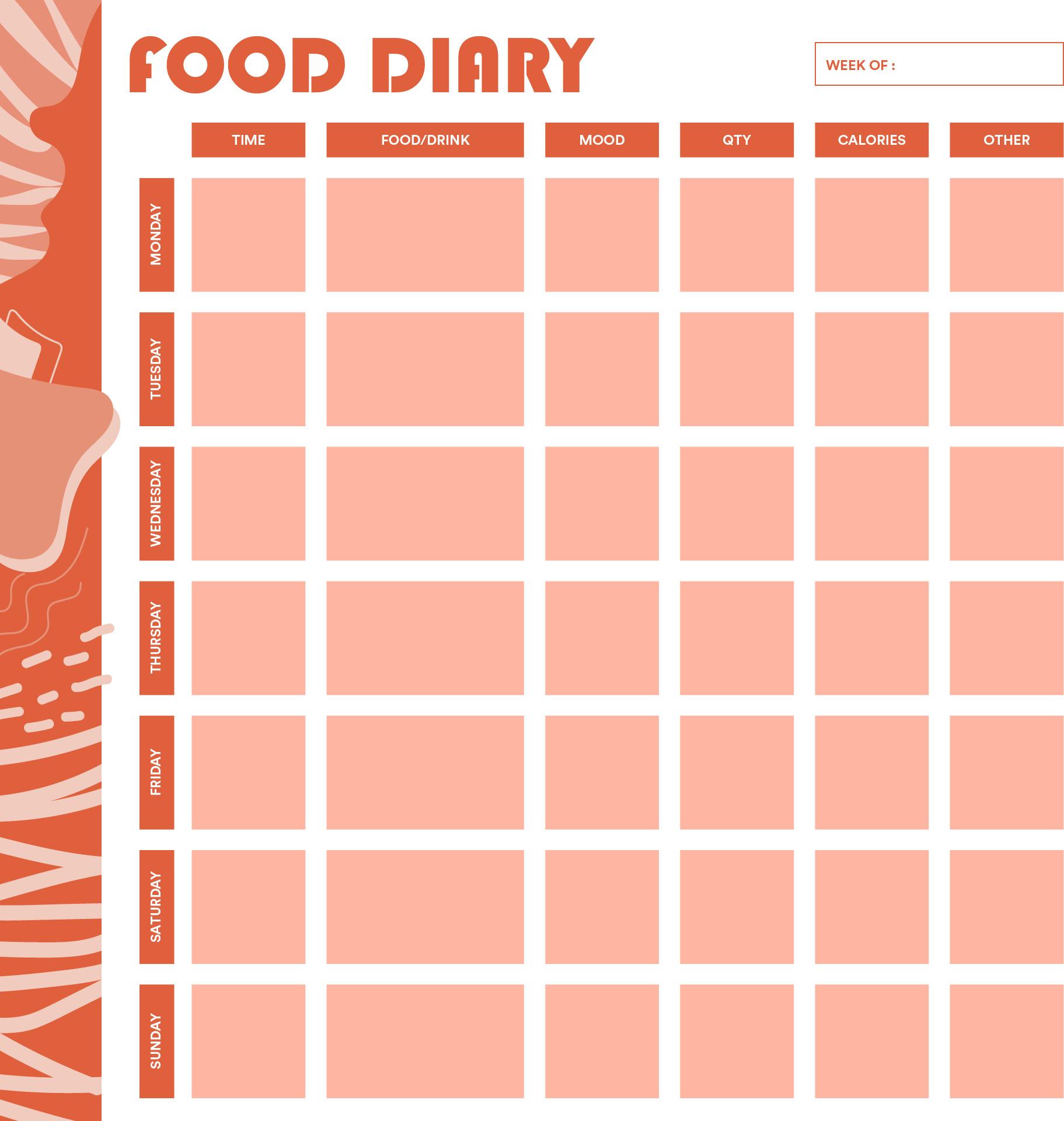 Printable Daily Food Journal