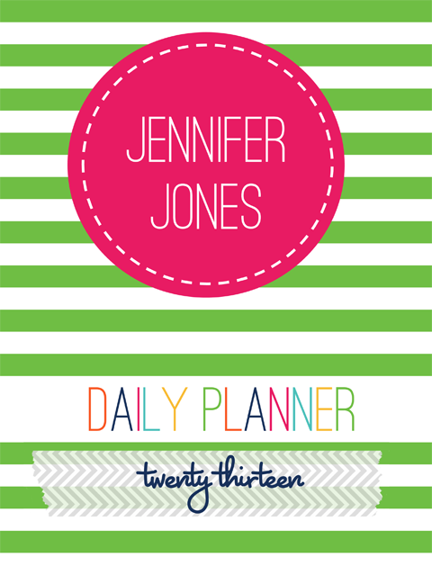 5 Images of Printable Personal Planner Cover Page