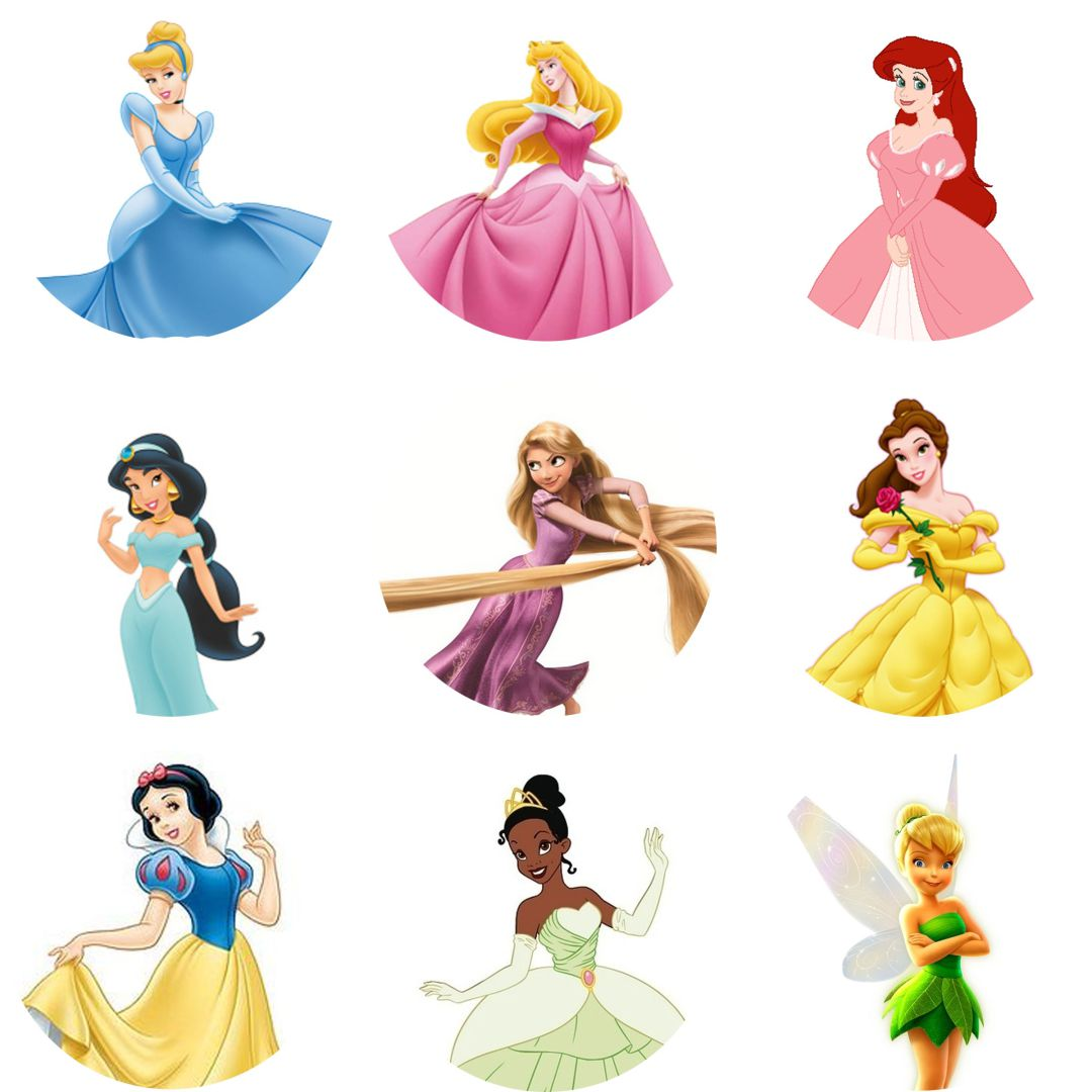 Printable Disney Princess Cake Toppers