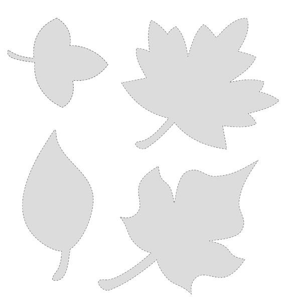 5 Images of Free Printable Leaf Shape Patterns