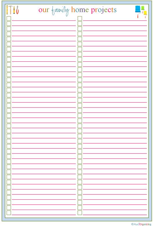 Printable to do checklist