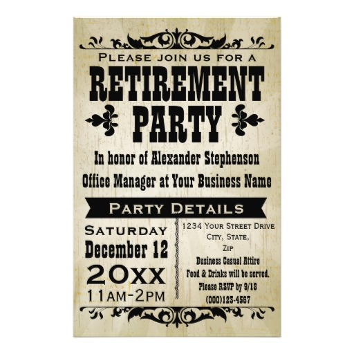 Retirement Party Invitation Template Printable Retirement Party – Free Printable Retirement Party Invitation Templates