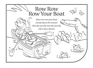 6 Images of Row Row Row Your Boat Printable