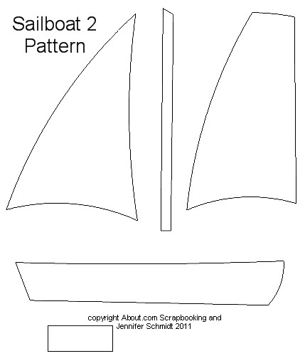 5 Images of Printable Sailboat Pattern