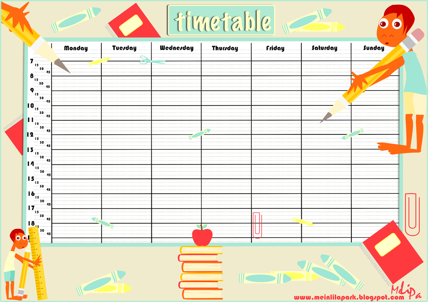 5 Images of Free Printable School Class Schedule