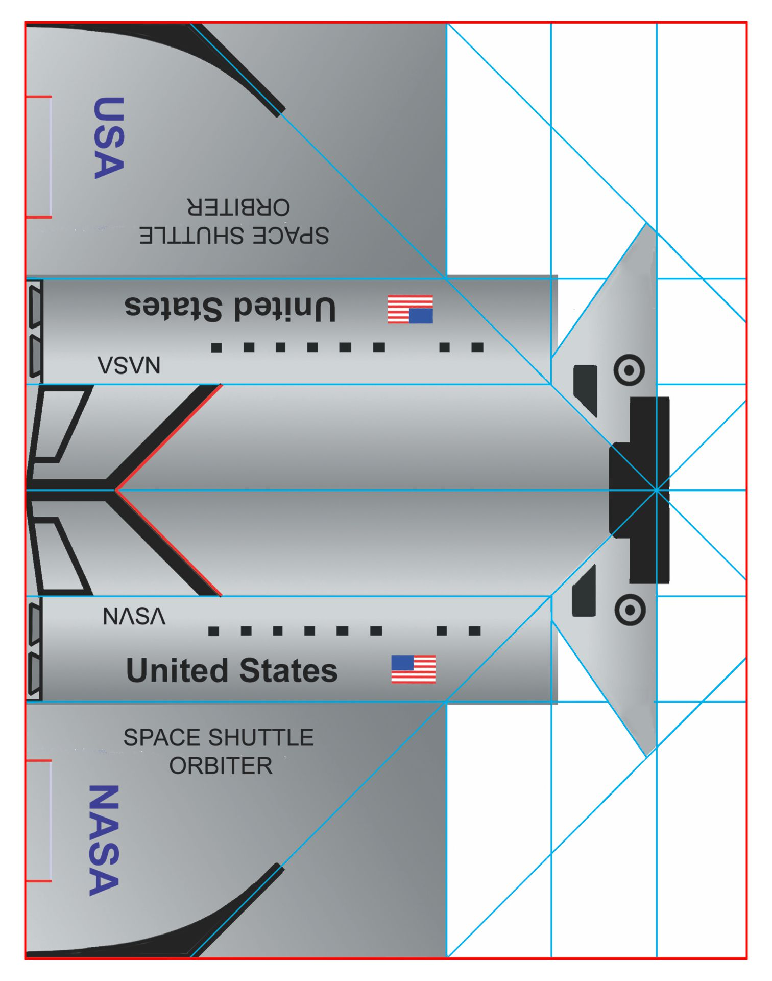 Space Shuttle Paper Airplane Printable
