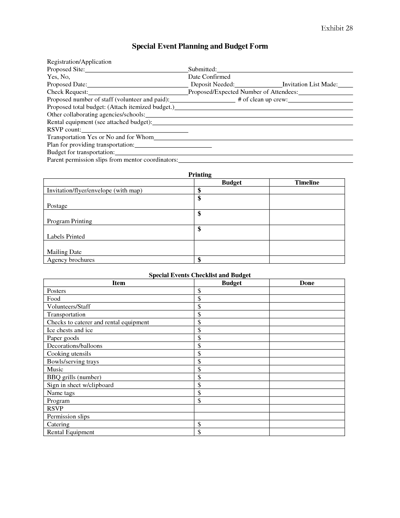 7 best images of event planning forms free printable for Event planning organizer template