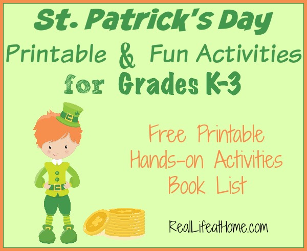 8 Images of St. Pats Day Printable Activities