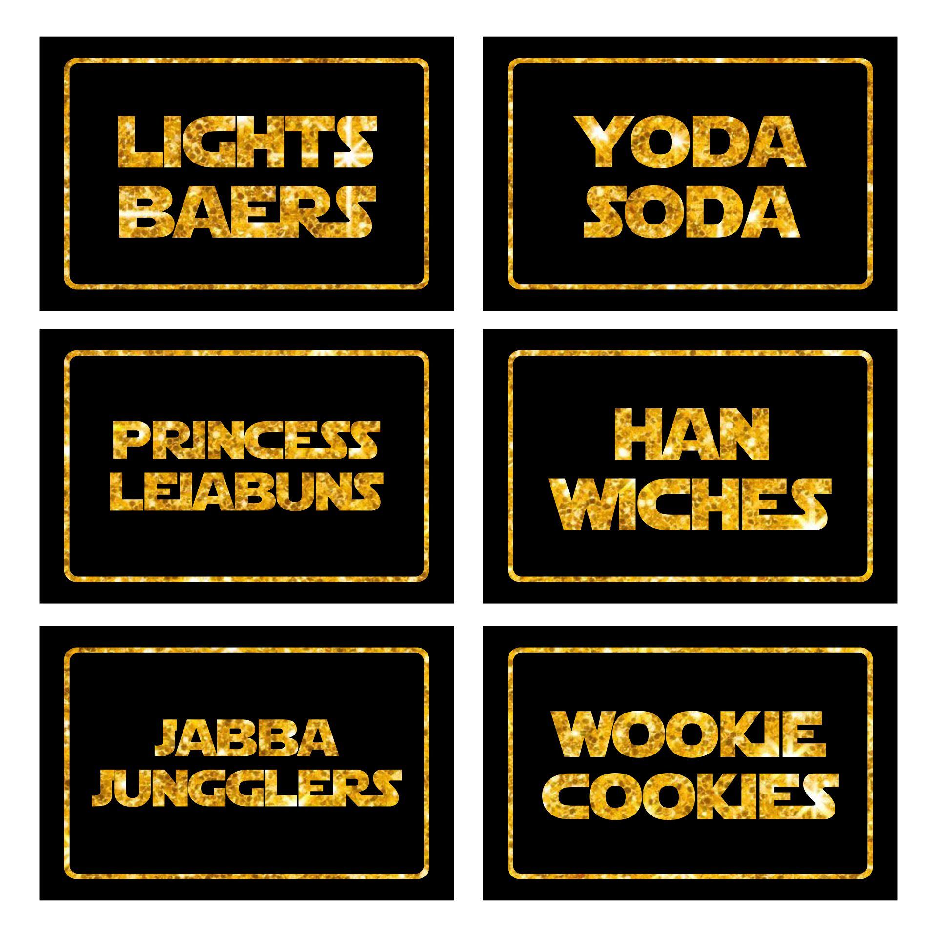 7 Images of Star Wars Printable Labels