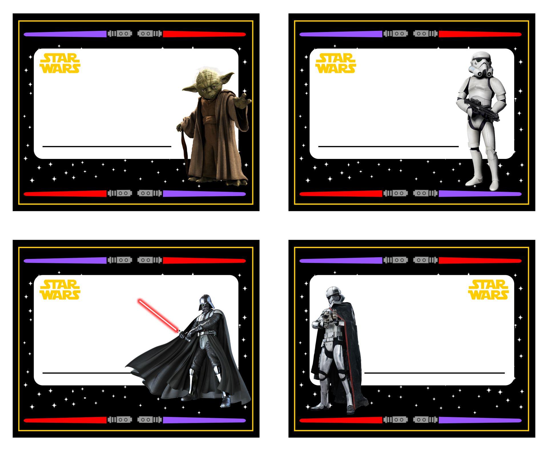 Star Wars Name Tags Printable Free