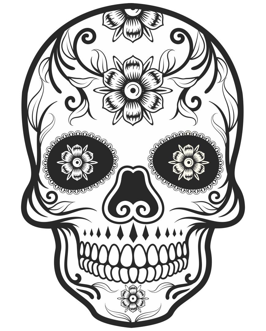 Sugar Skull Halloween Coloring Pages