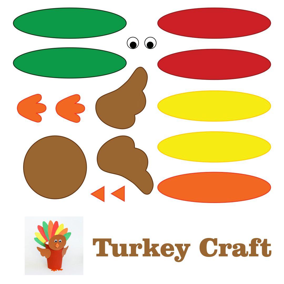 Thanksgiving Turkey Craft Templates