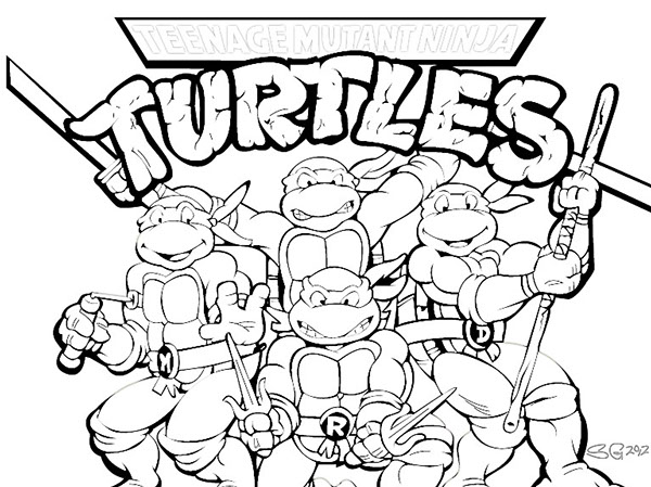 7 Images of TMNT Printable Coloring Pages