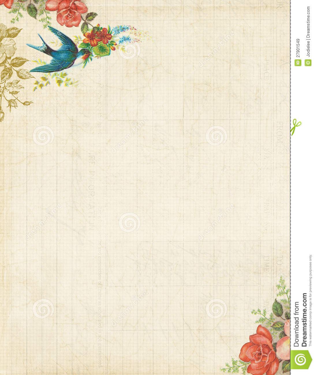 6 Best Images of Vintage Printable Stationary Paper - Free ...