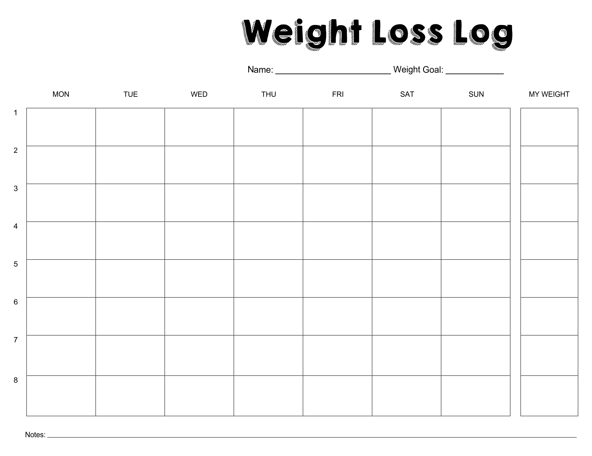 8 best images of weight loss monthly printable sheets printable weight loss measurement chart. Black Bedroom Furniture Sets. Home Design Ideas