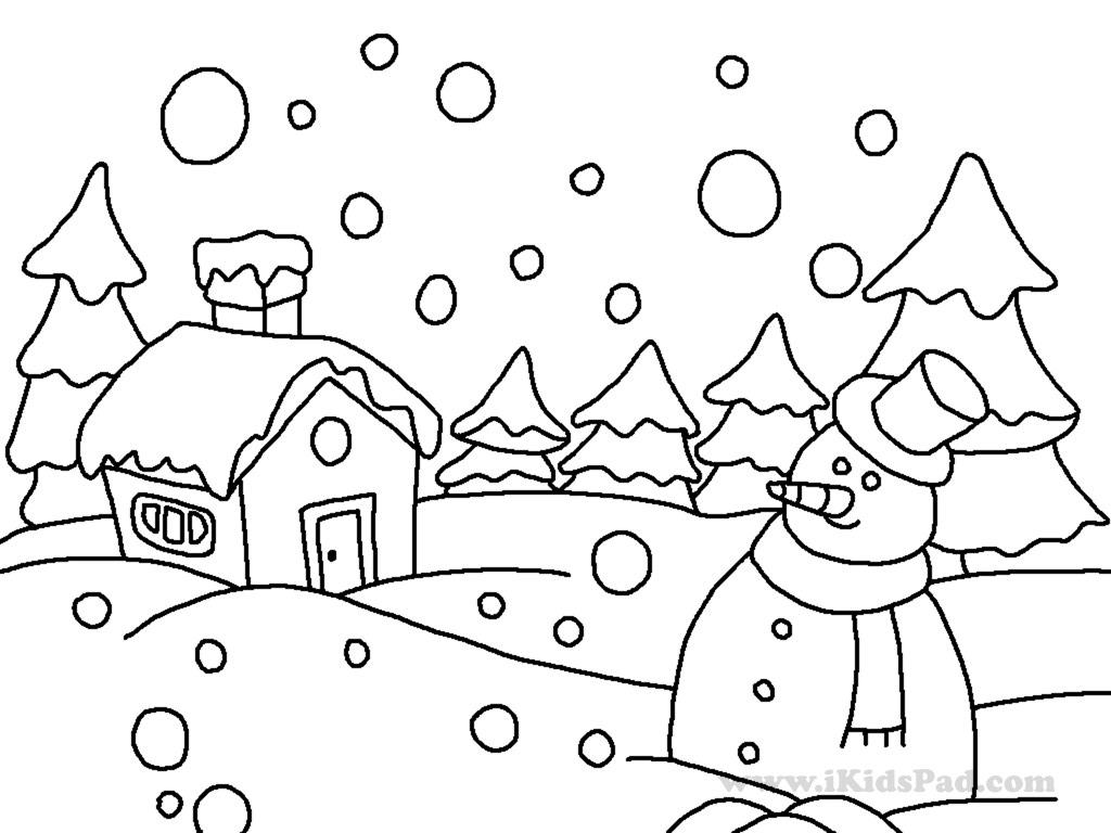 5 Images of Winter Coloring Printables