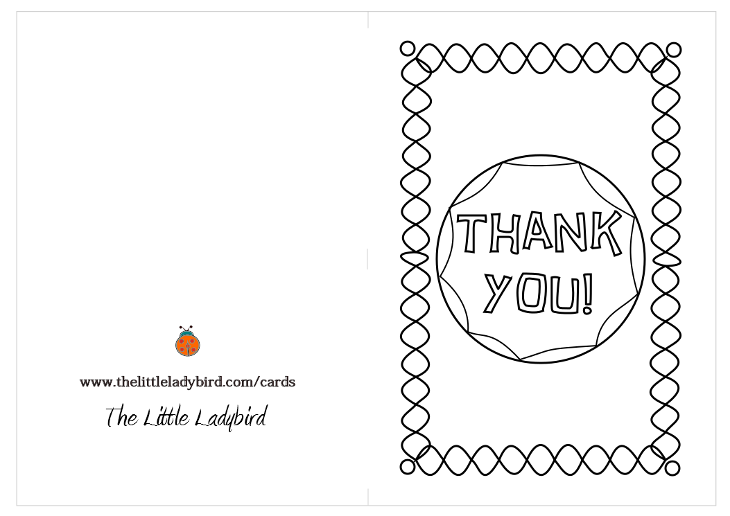 coloring pages thank you card - photo#2