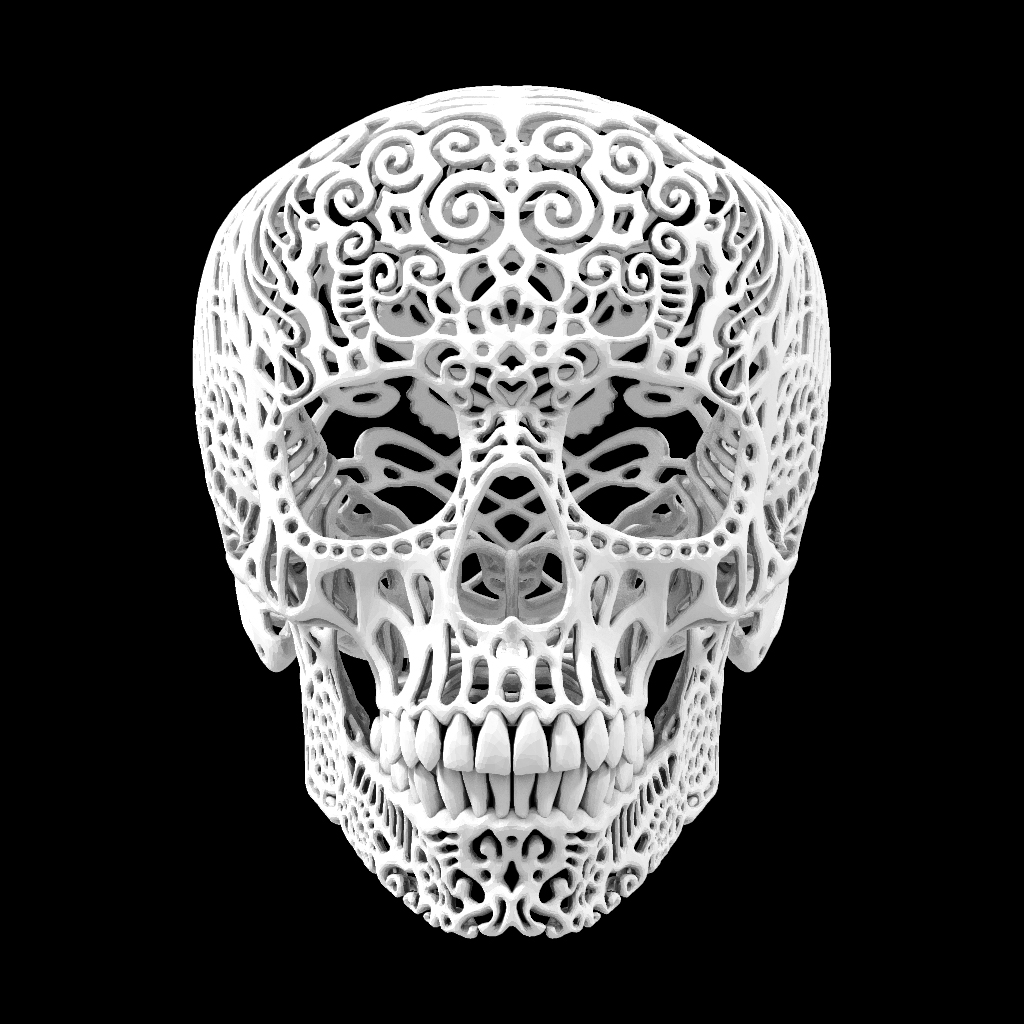 9 Images of 3D Printable Skull