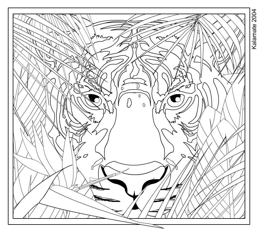 6 Images of Printable Hard Coloring Pages