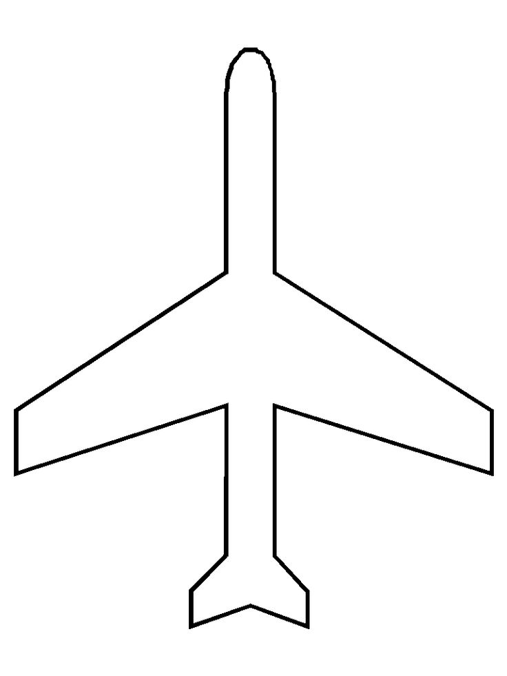 6 Images of Printable Airplane Cut Out Pattern