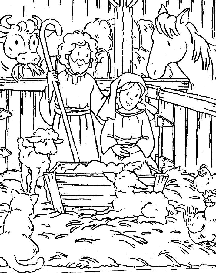 4 Images of Printable Coloring Baby Jesus