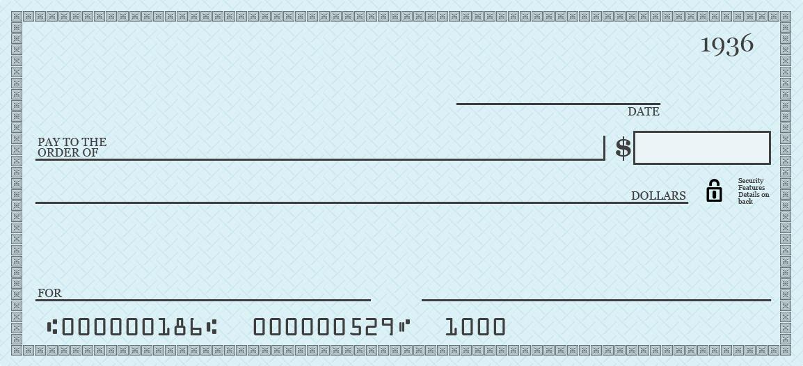 Pretend Check Template. blank checks template printable play ...