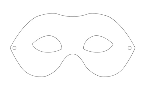 4 Images of Blank Face Printable Papercraft Template Mask