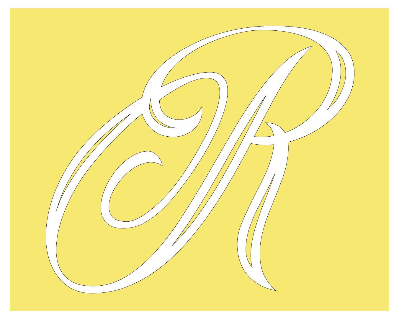 Calligraphy Alphabet Stencil R