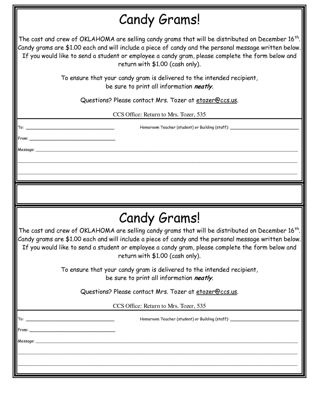 Best Images of Printable Candy Cane Gram Templates