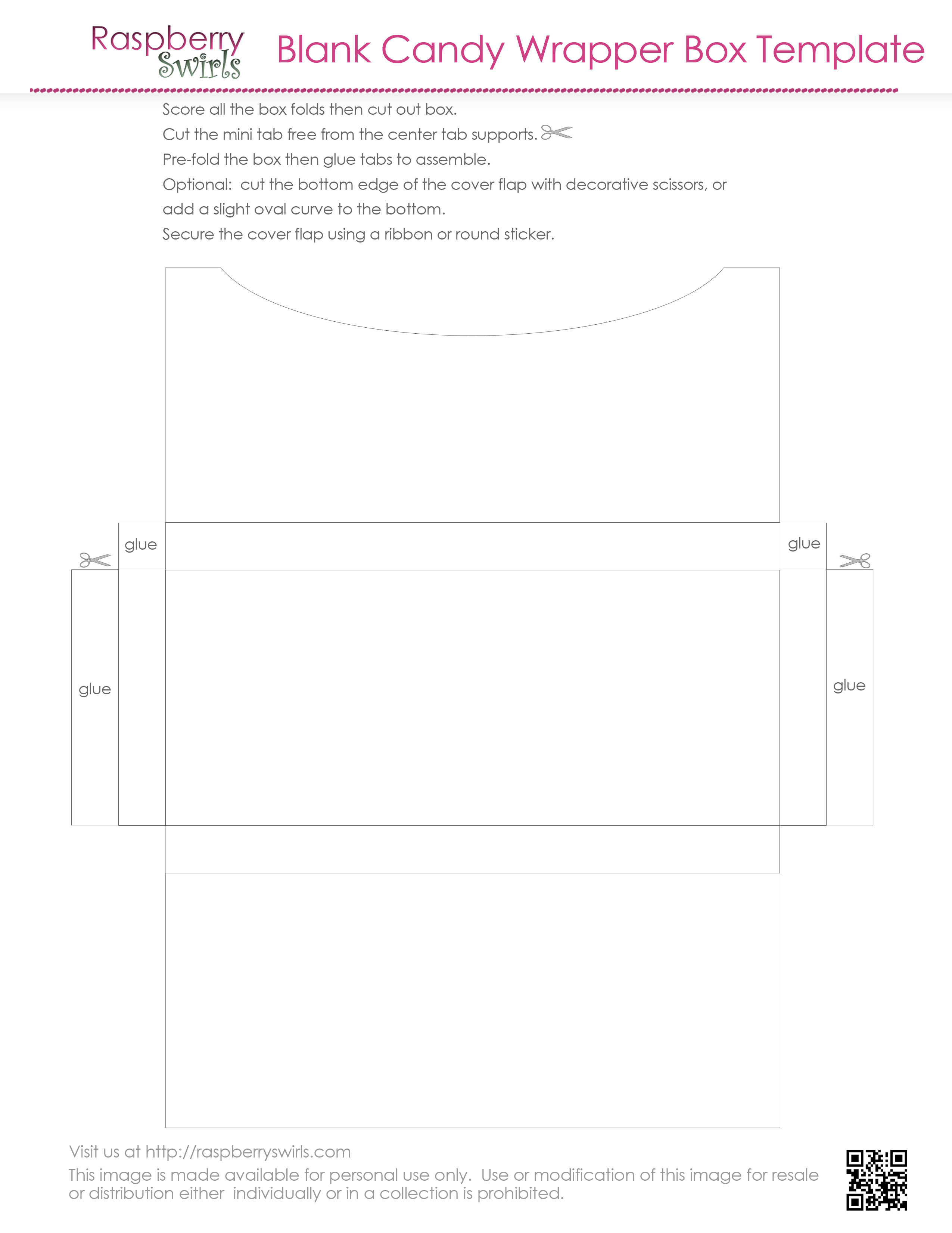 7 best images of free printable candy box templates free for Free candy bar wrapper template