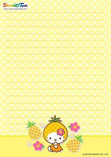 Cute Hello Kitty Stationary Printable