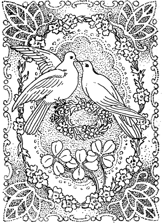 Detailed Valentine Coloring Pages