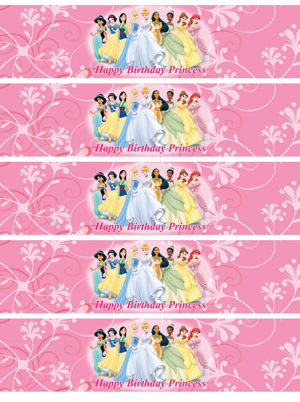 7 Images of Disney Princess Printable Labels