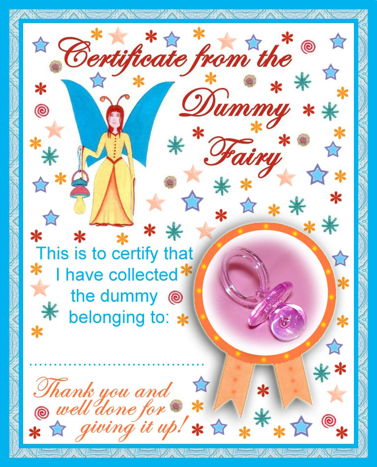 7 Images of Free Printable Certificate Of A Pacifier