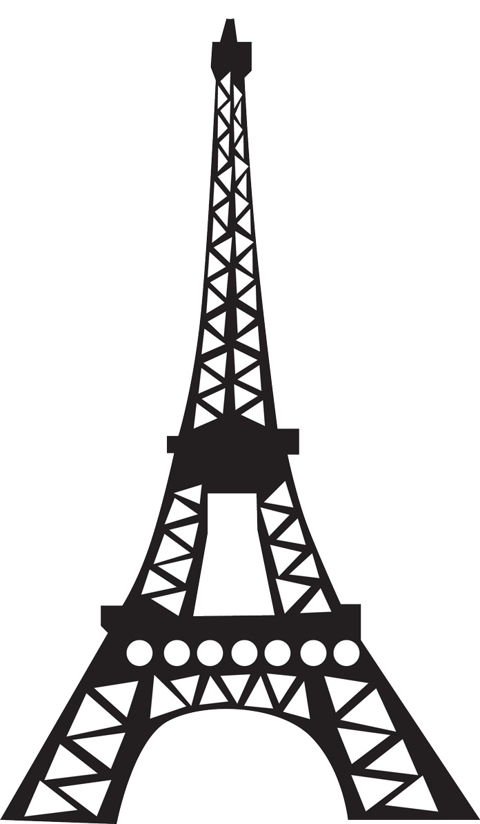 5 Images of Free Printable Eiffel Tower Silhouette