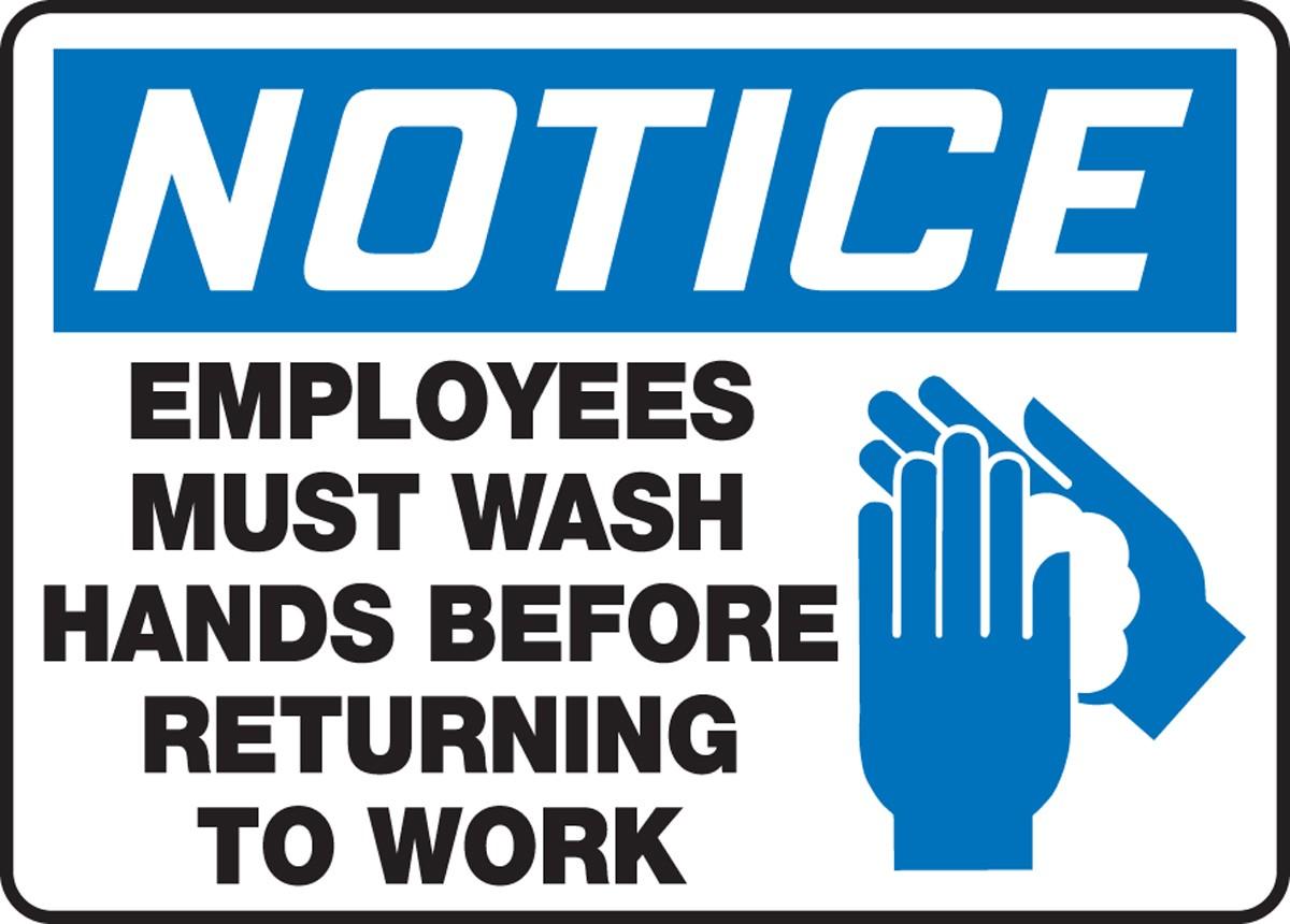 employees wash hands sign -#main