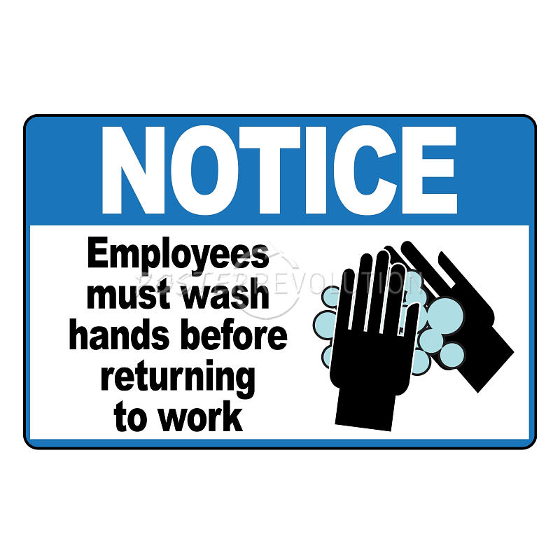 employees wash hands sign - photo #9