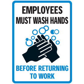 Luscious image intended for employees must wash hands sign printable
