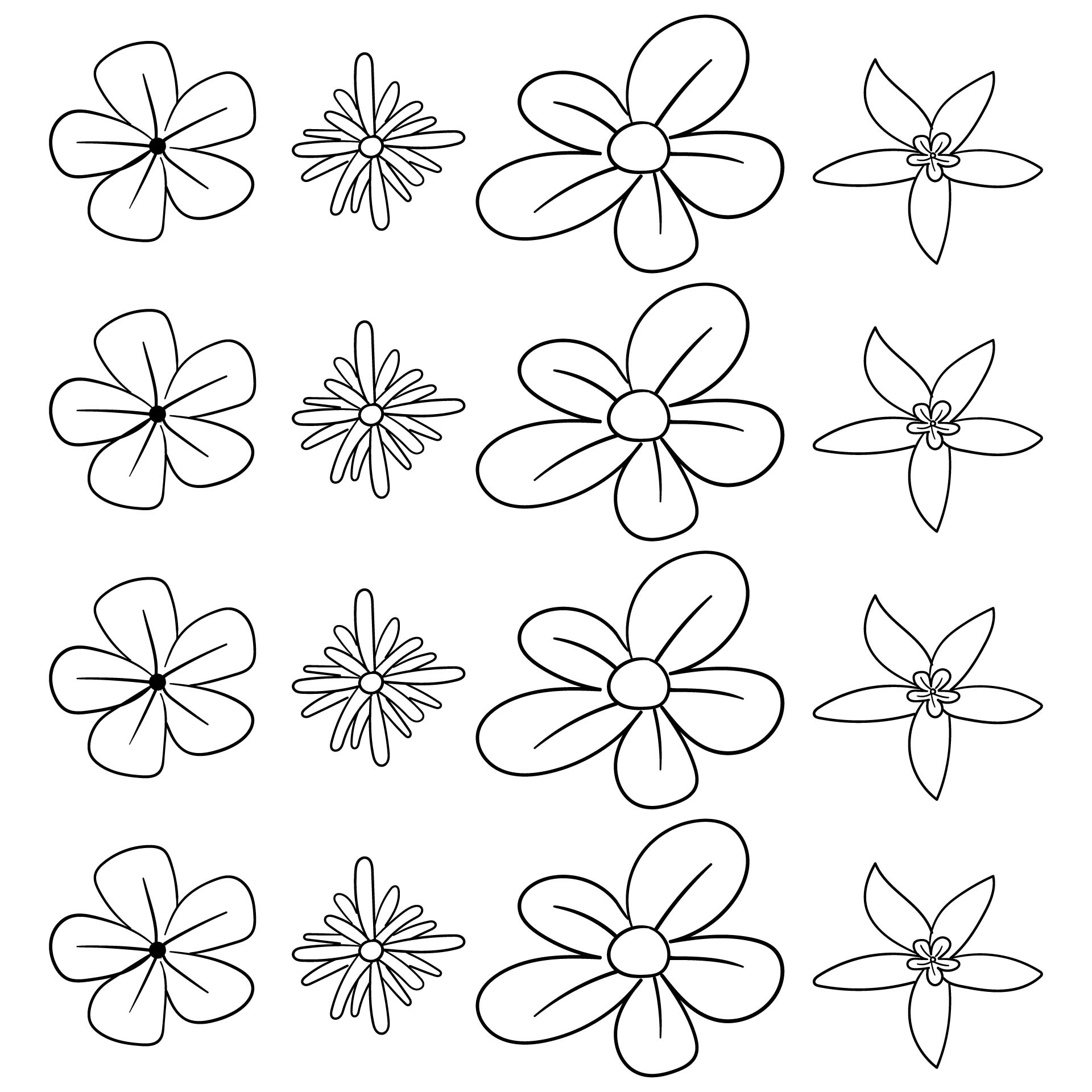 Flower Shape Cut Out Template